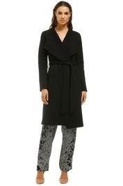 Line-Meghan-Brushed-Cotton-and-Wool-Blend-Coat-Black-Front