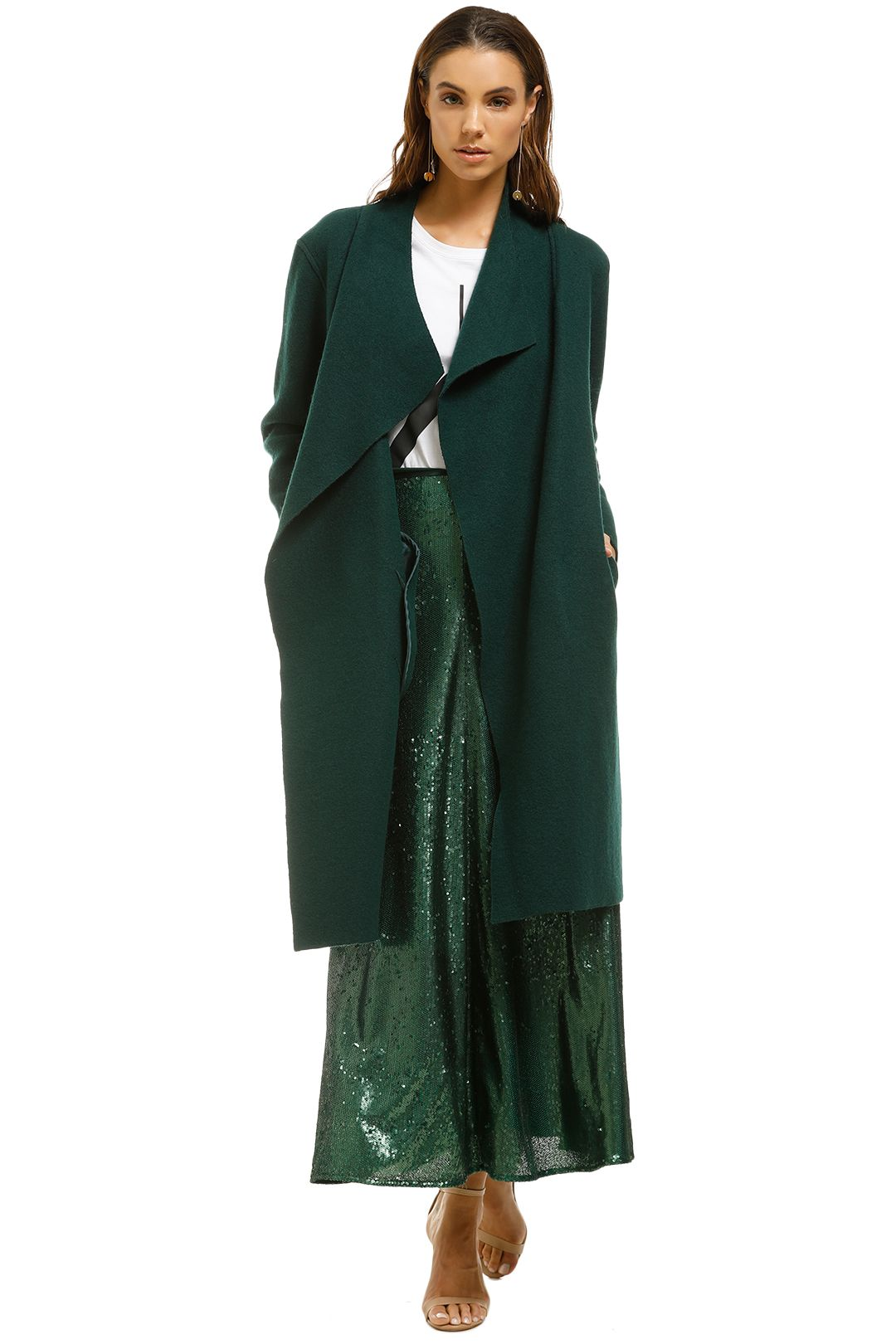 Line-Meghan-Brushed-Cotton-and-Wool-Blend-Coat-Green-Front
