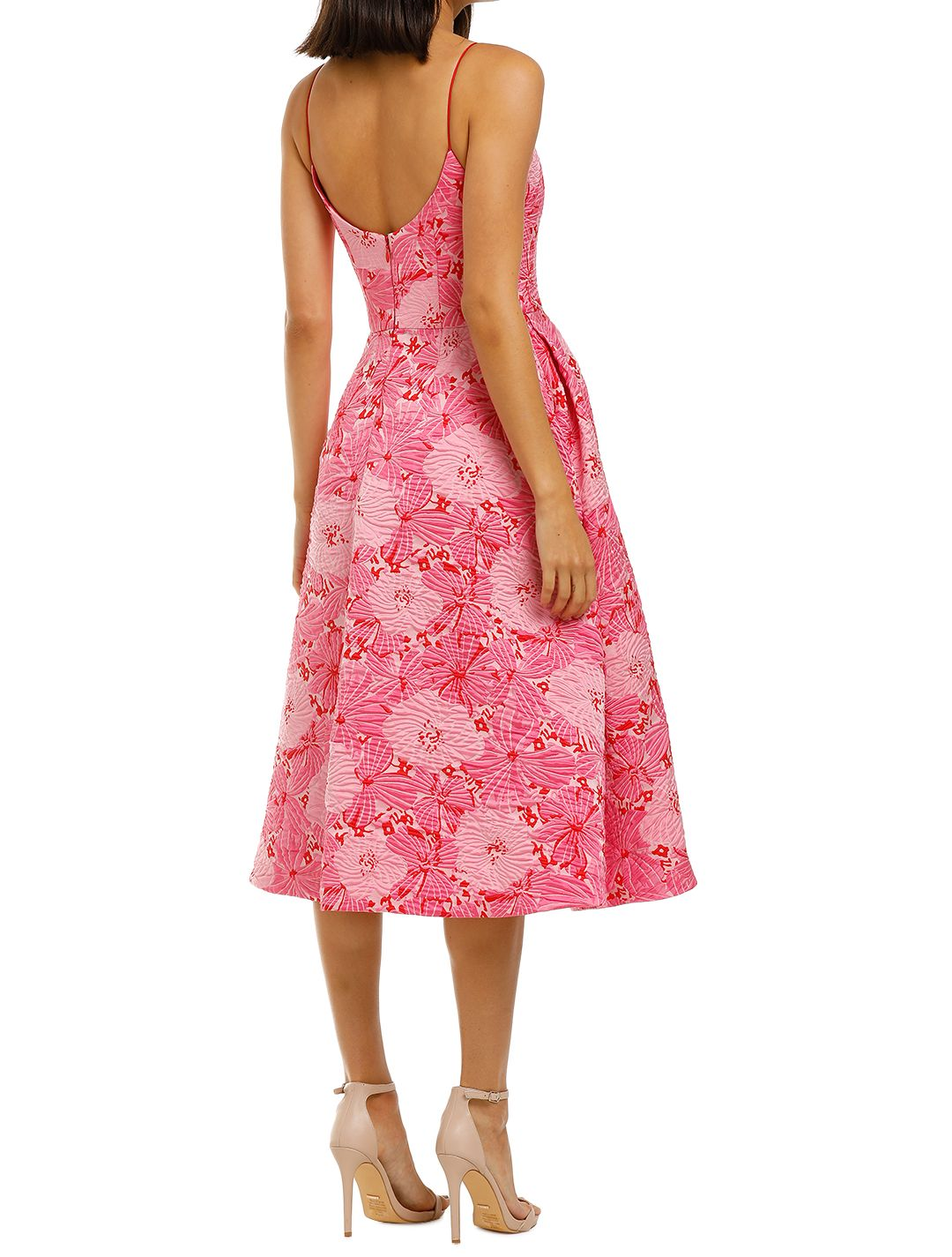 Love-Honor-Alexia-Midi-Pink-Floral-Back
