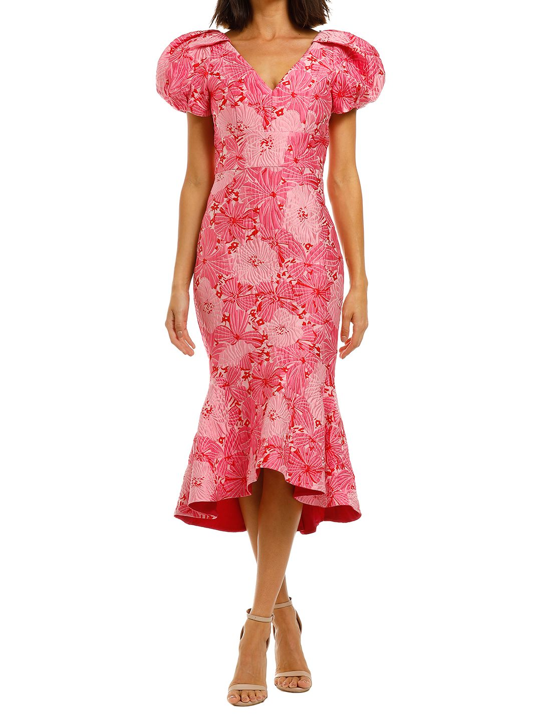 Love-Honor-Argento-Midi-Pink-Floral-Front