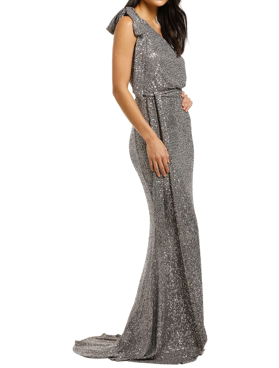 Love-Honor-Scala-Sequin-Gown-Pewter-Side