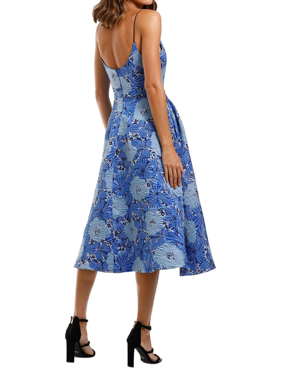 Love Honor Alexia Midi Cobalt Fit and Flare