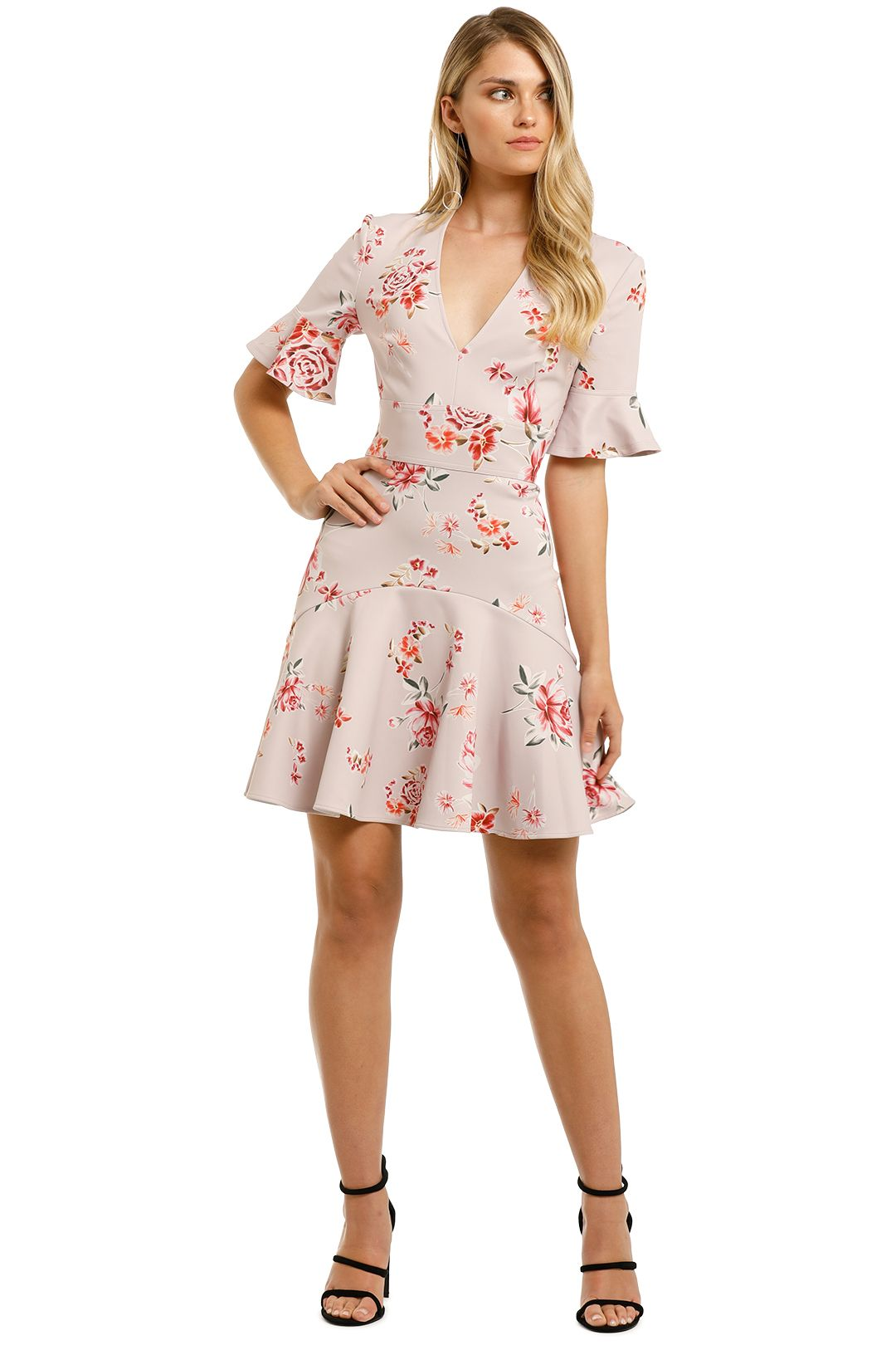 Lover-Blossom-V-Flip-Dress-Pink-Front