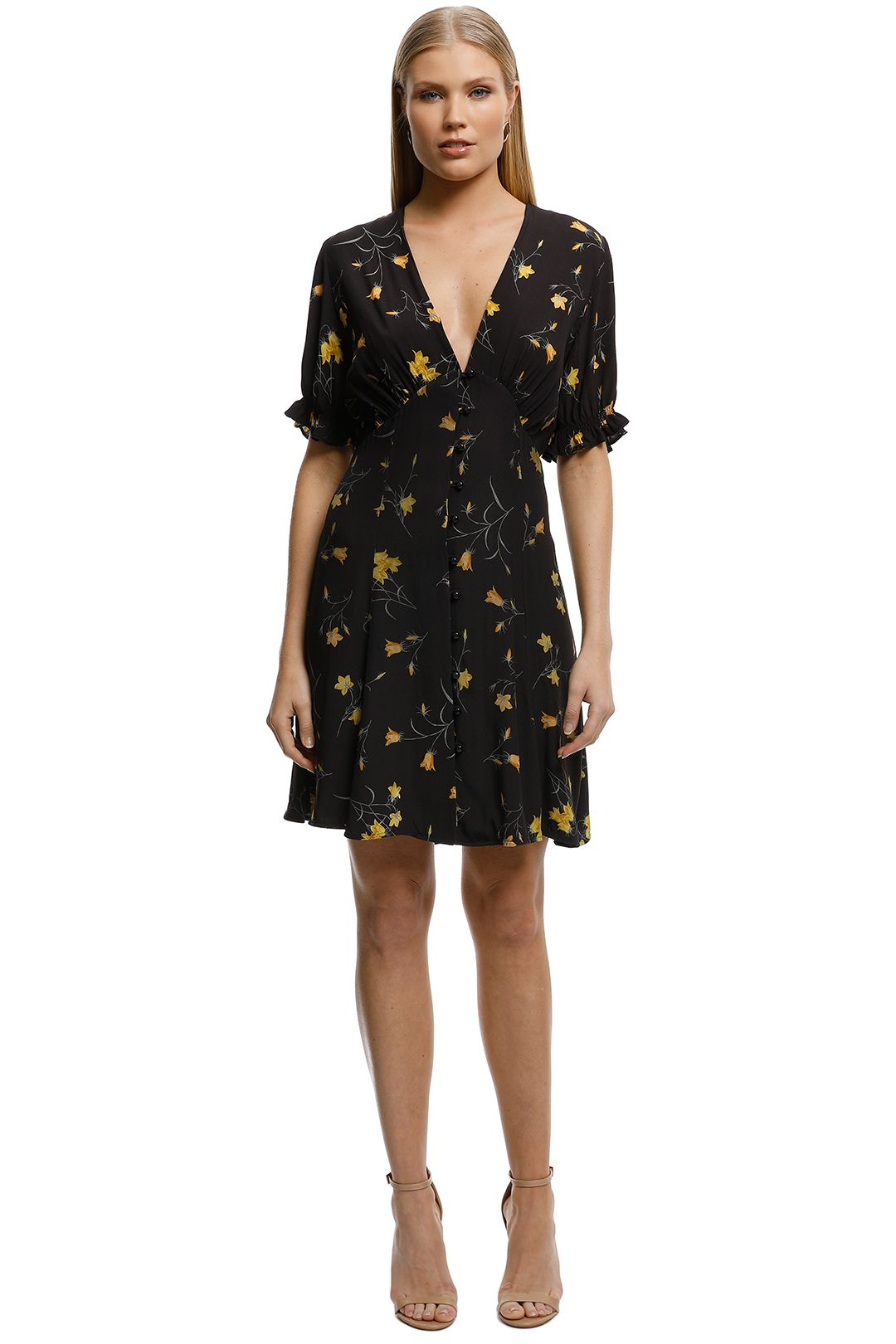 Lover-Forget Me Not Mini Dress-Black-Front