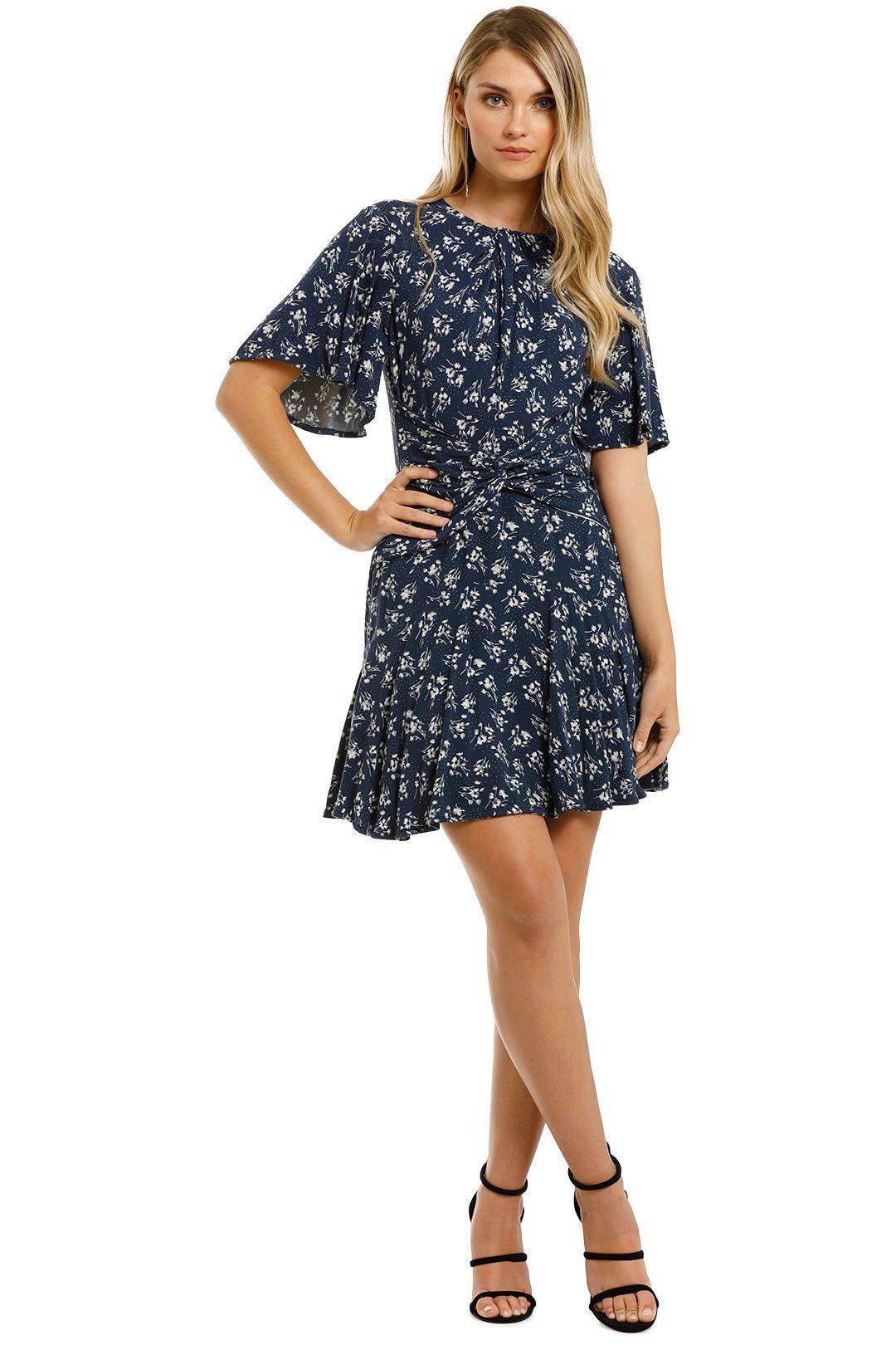 Lover-Mimosa-Mini-Dress-Navy-Front