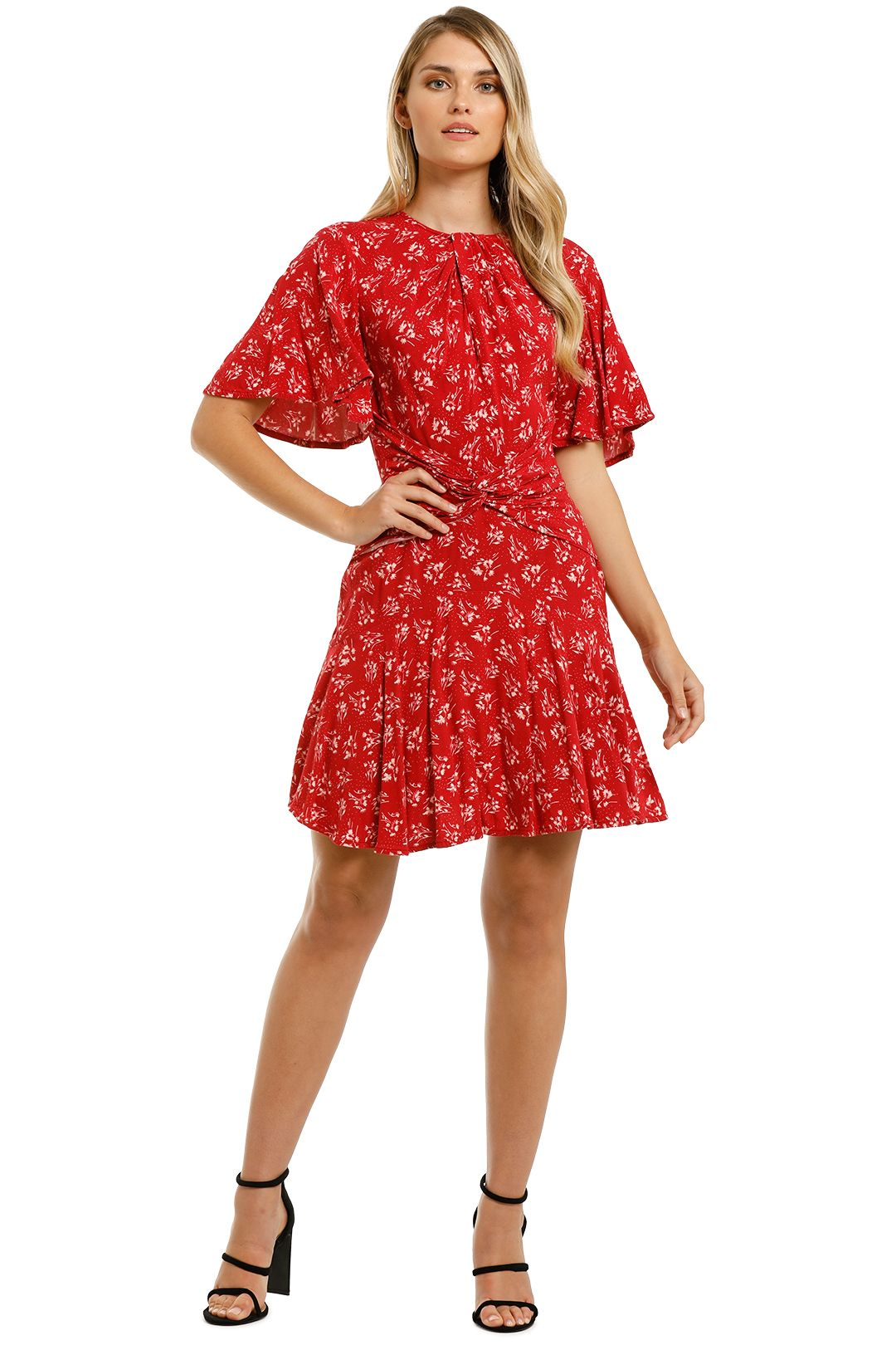 Lover-Mimosa-Mini-Dress-Red-Front