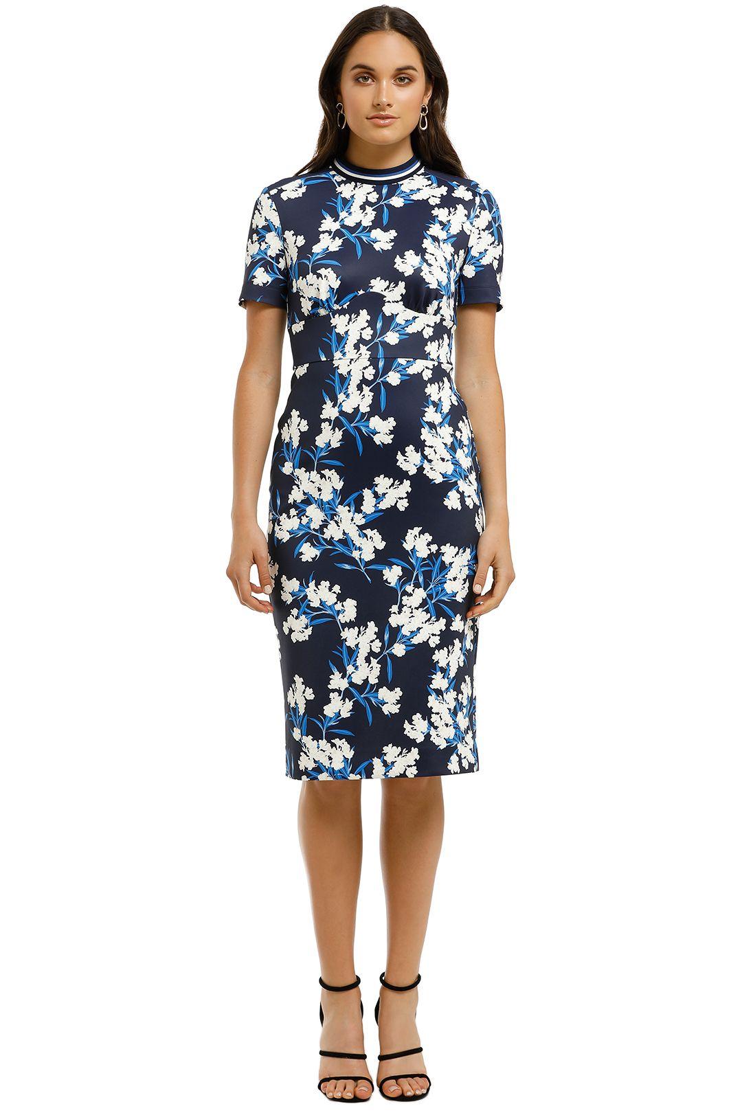 Lover-Mystic-Sheath-Dress-Floral-Blue-Front