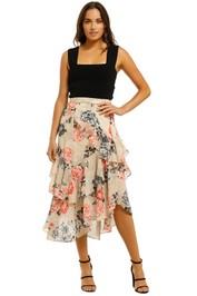 Lover-Painterly-Floral-Midi-Skirt-Bone-Front
