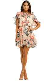 Lover-Painterly-Floral-Mini-Dress-Bone-Front