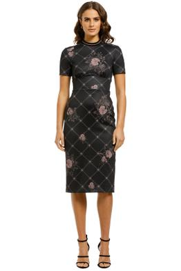 Lover-Ruby-Daydream-Midi Dress-Black-Front