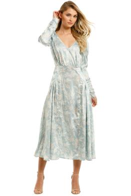 Lover-Yesterday's-Papers-Midi-Dress-Grey-Blue-Front