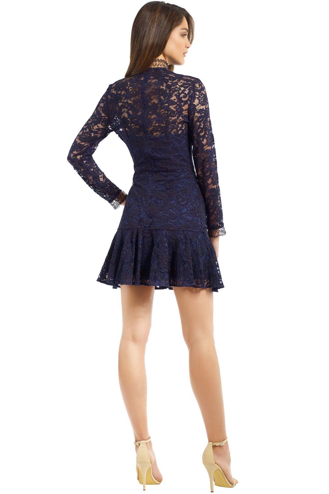 Lover - Cecilia Mini Dress - Navy - Back