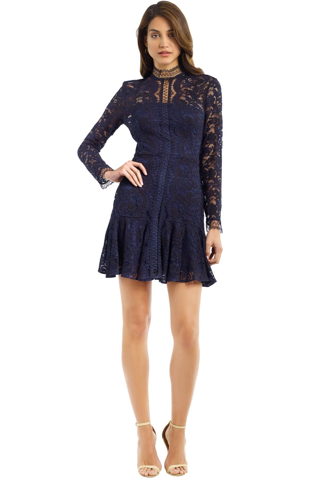 Lover - Cecilia Mini Dress - Navy - Front