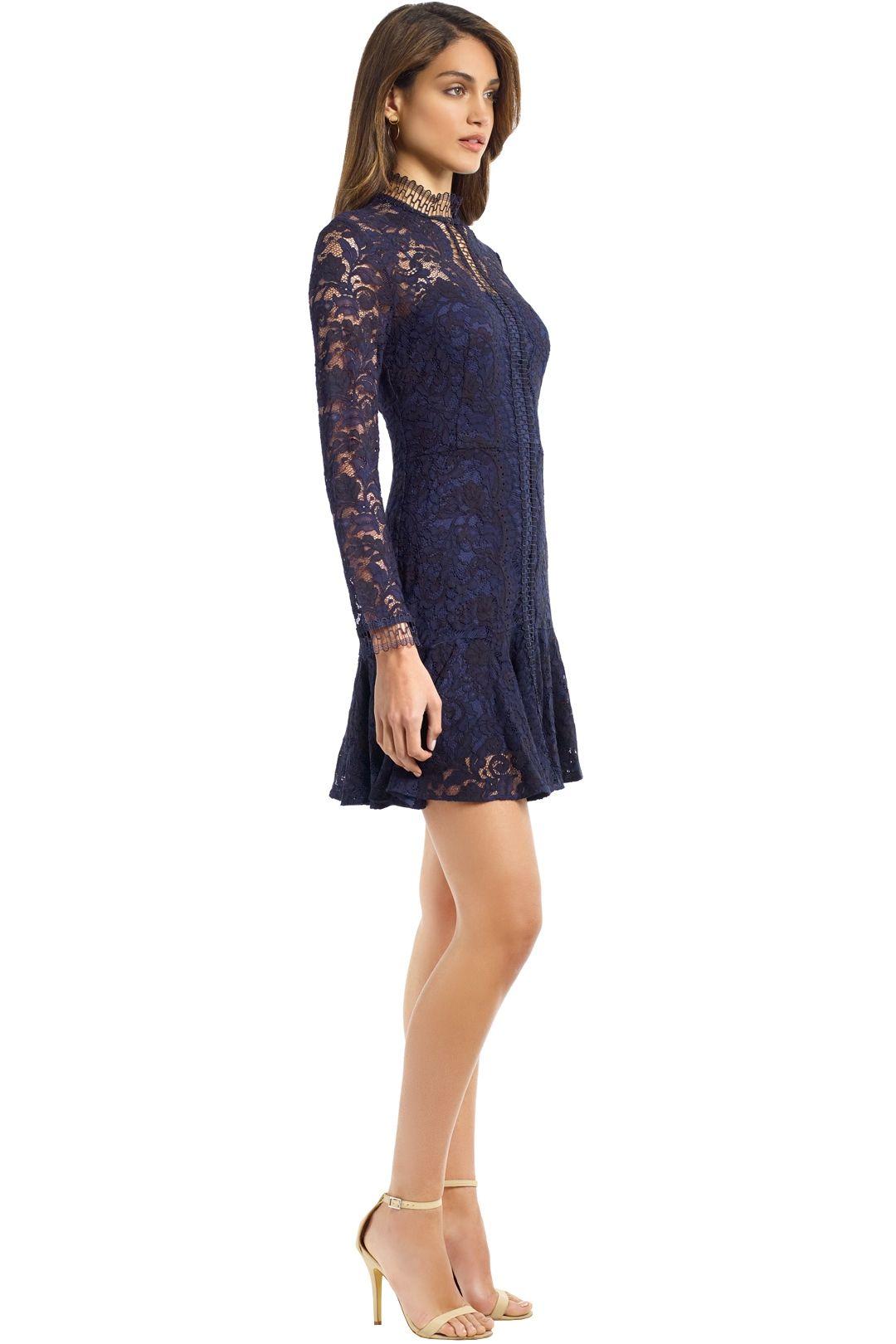 Lover - Cecilia Mini Dress - Navy - Side