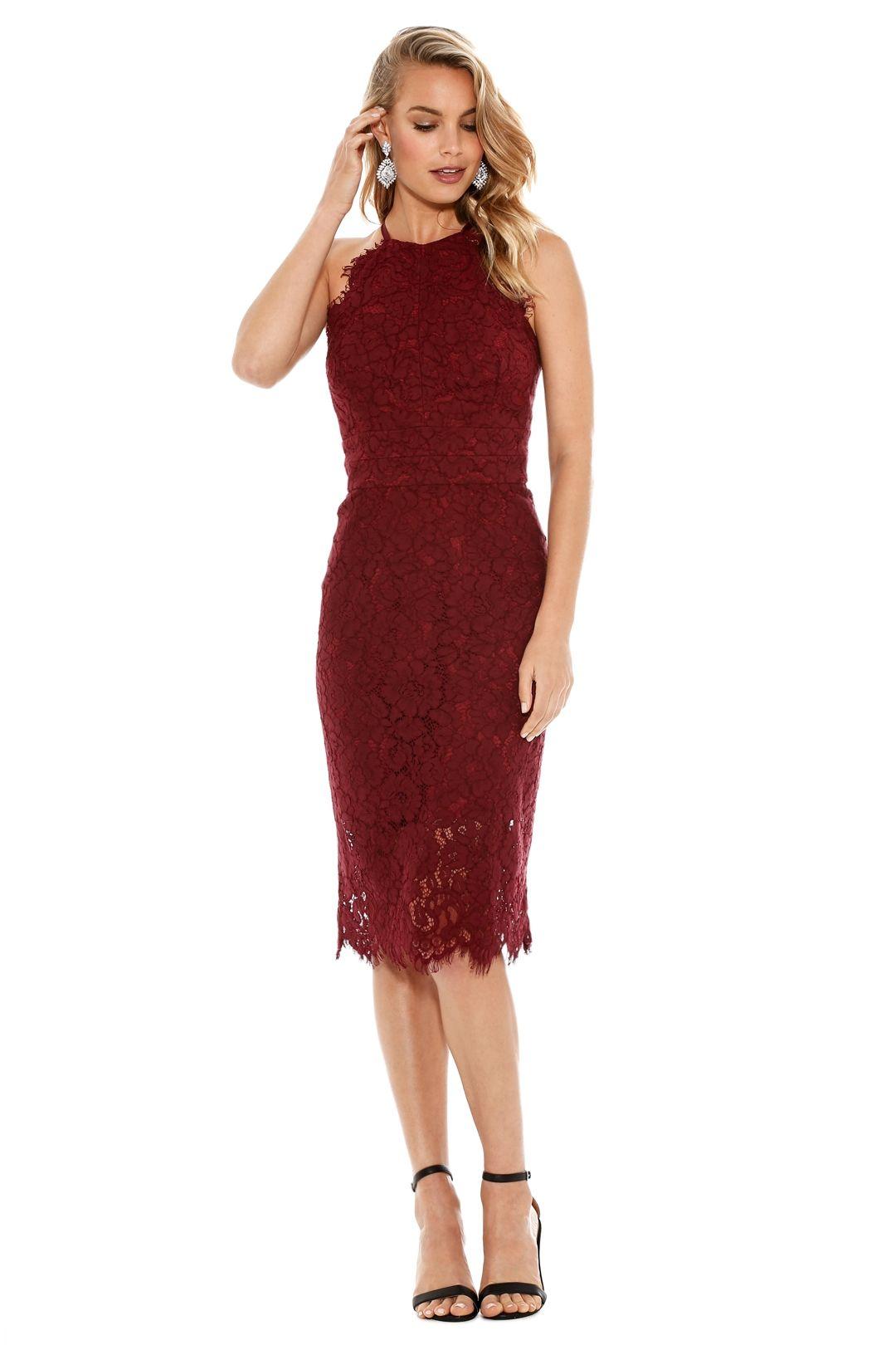 Lover - Ruby Oasis Halter Dress - Red - Front