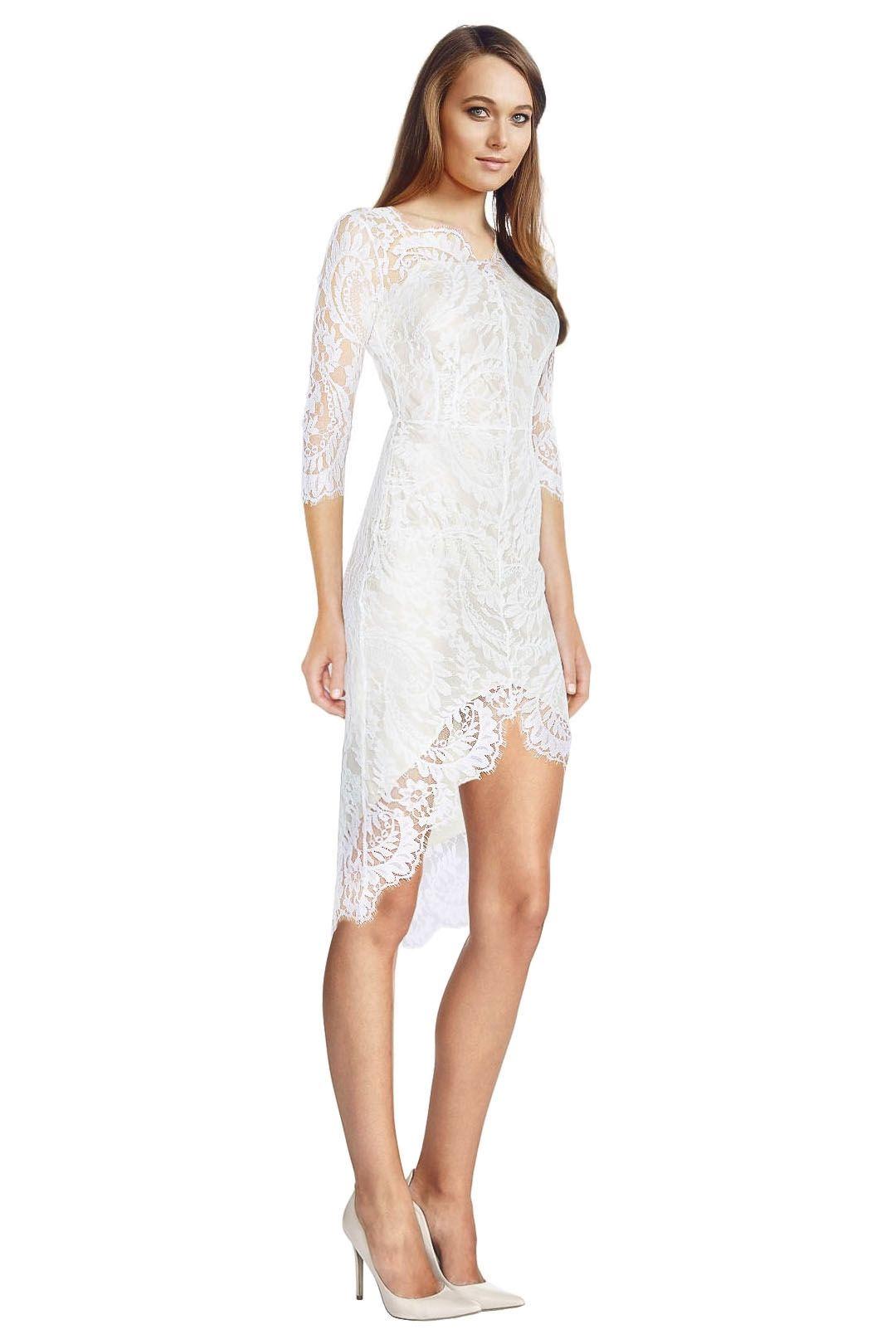 Lover - White Horizon Dress - White - Side