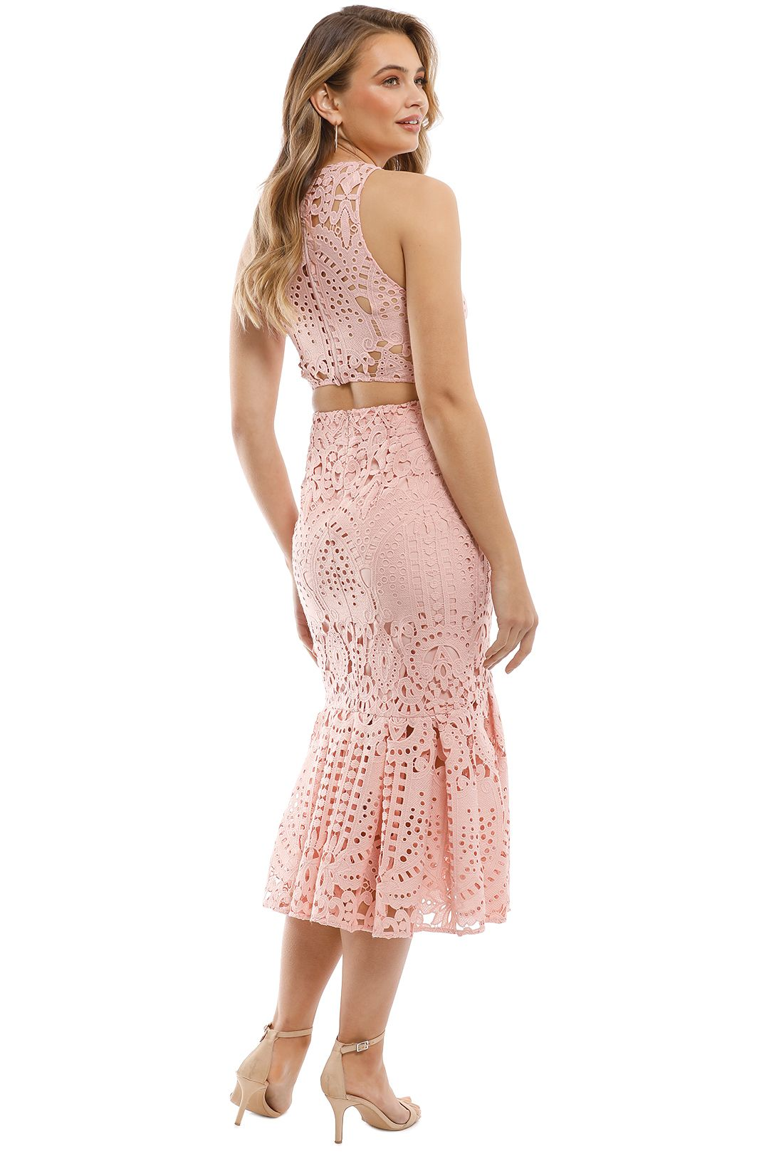 Lover - Harmony Cut Out Midi Dress - Sunset - Back