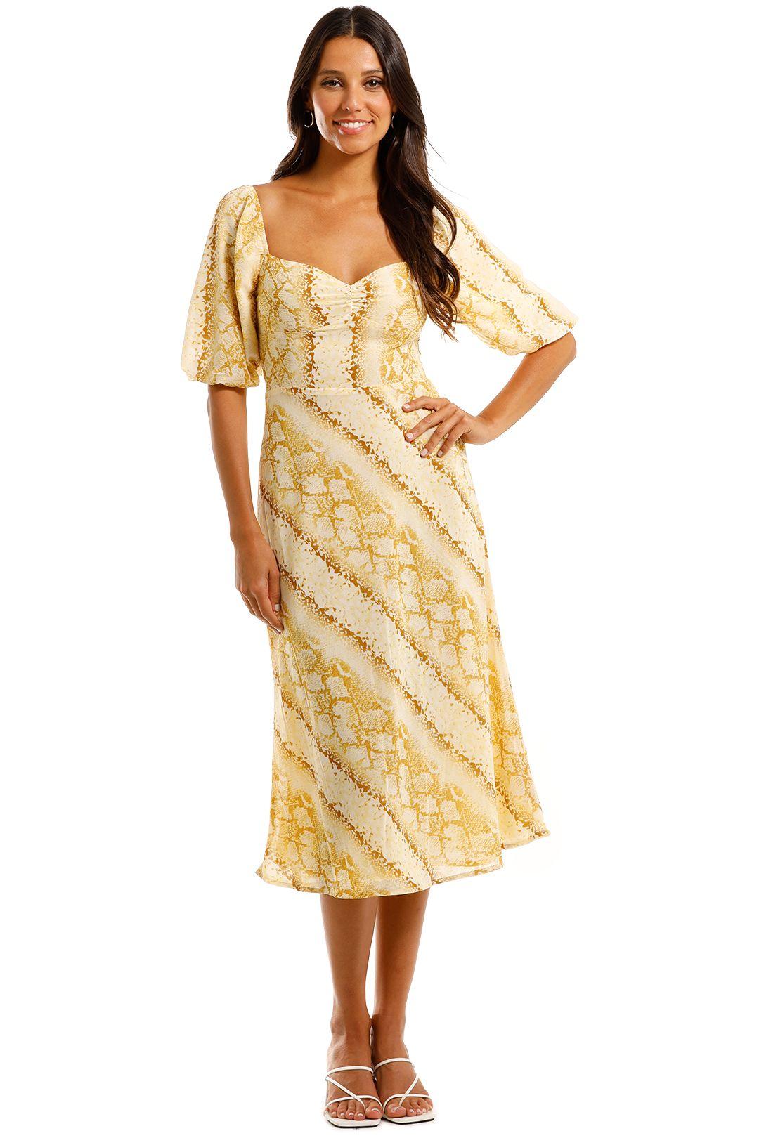 Lulu and Rose Cali Snake Print Midi Dress