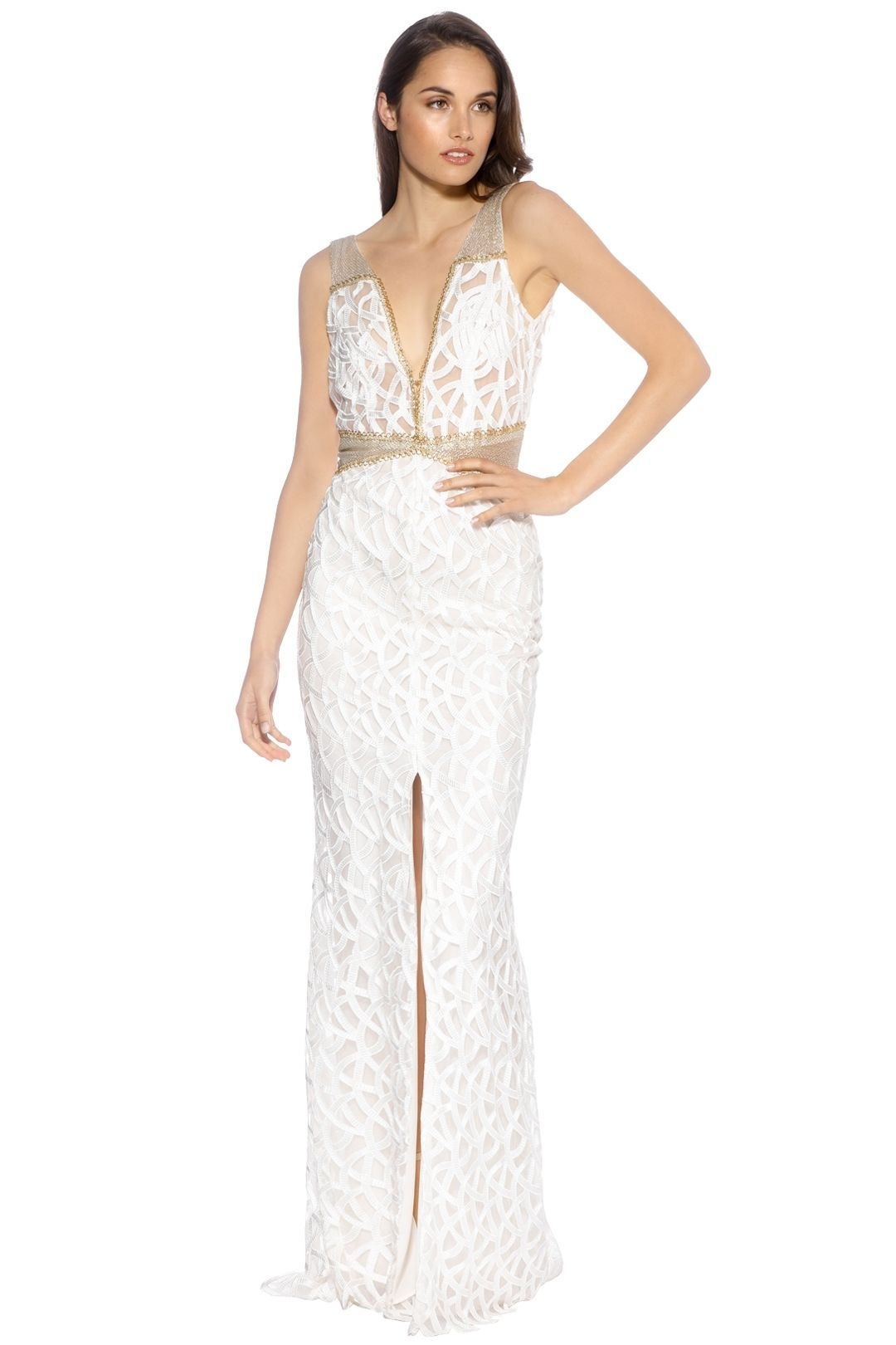 LUOM.O  - Ondine Dress - White - Front