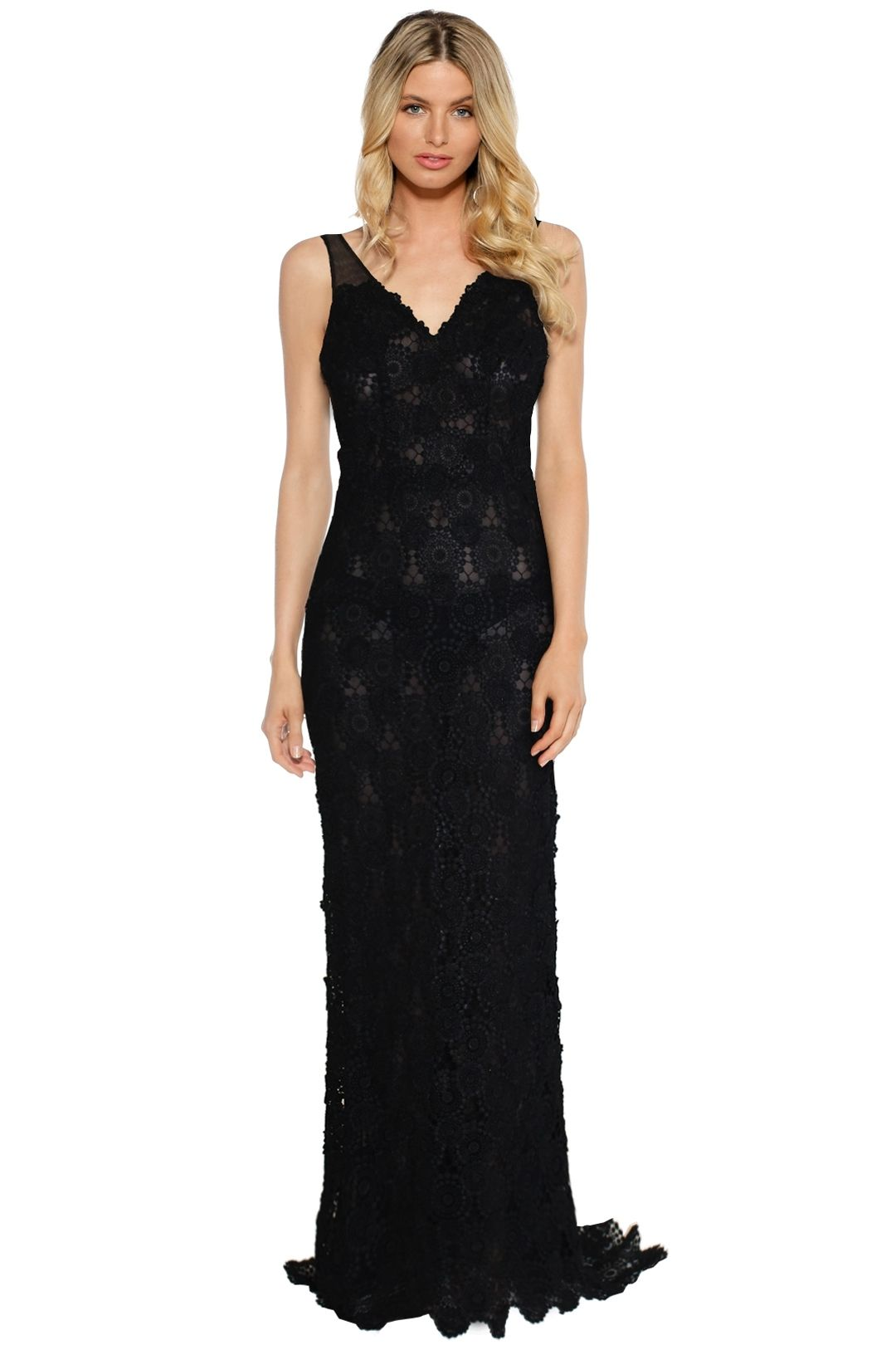 LUOM.O - Onyx Dress - Black Lace - Front