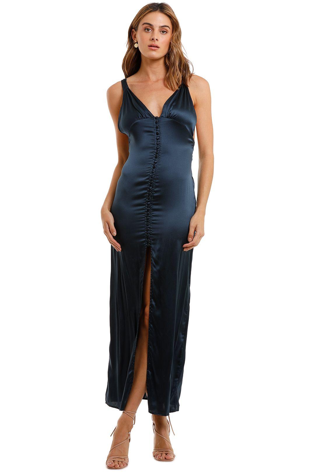 Magali Pascal Baron Long Slip Dress split