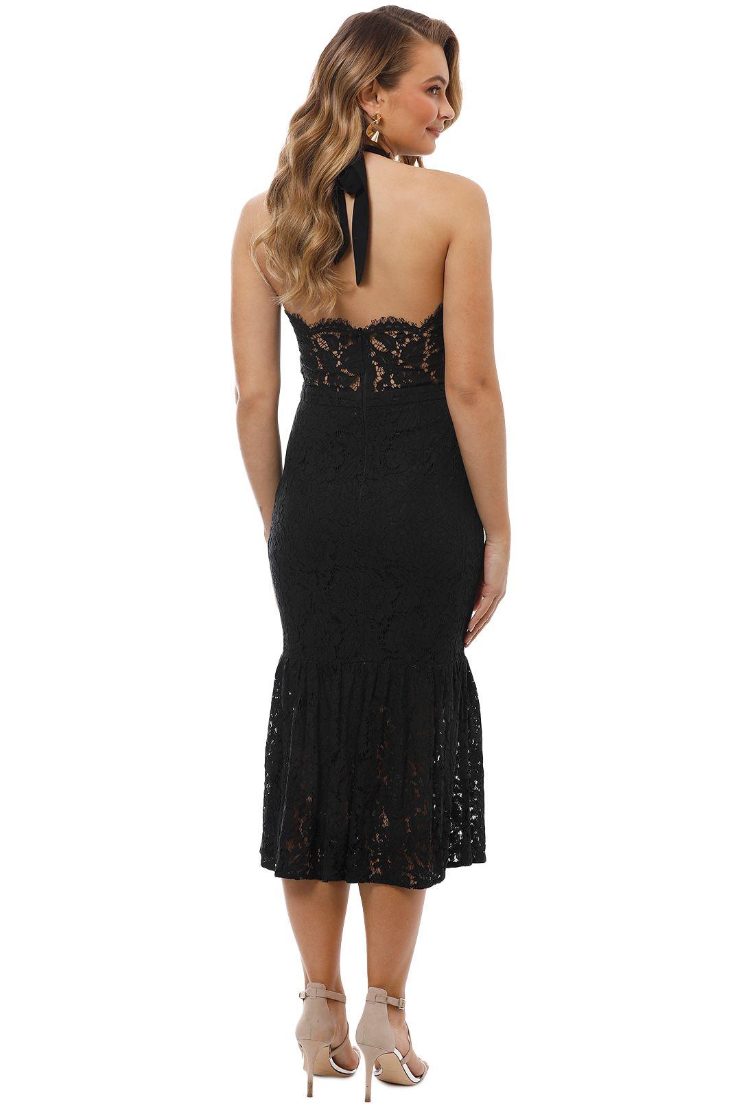 Maison Vivienne - Bitter Sweet Halter Midi Dress - Black - Back