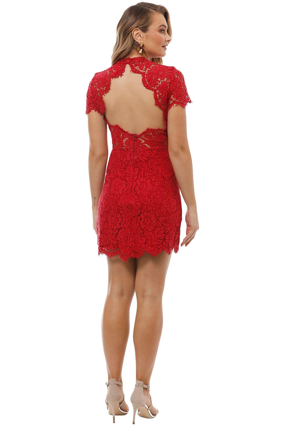Maison Vivienne - Bitter Sweet High Neck Mini Dress - Red - Back