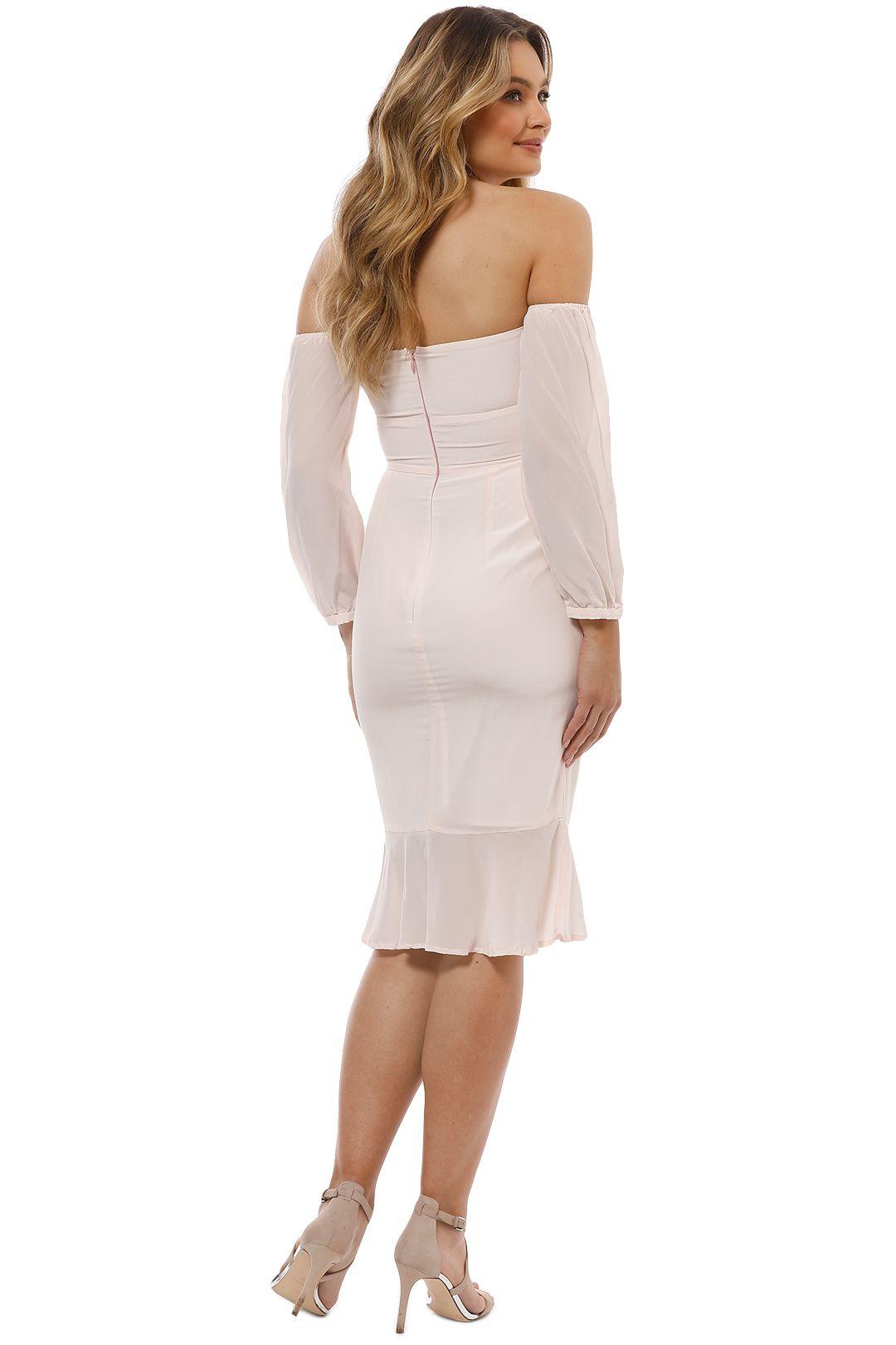 Maison Vivienne - Waltz for a Night Midi Dress - Blush - Back