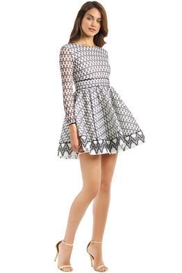 Maje - Royan Dress - Black White - Front