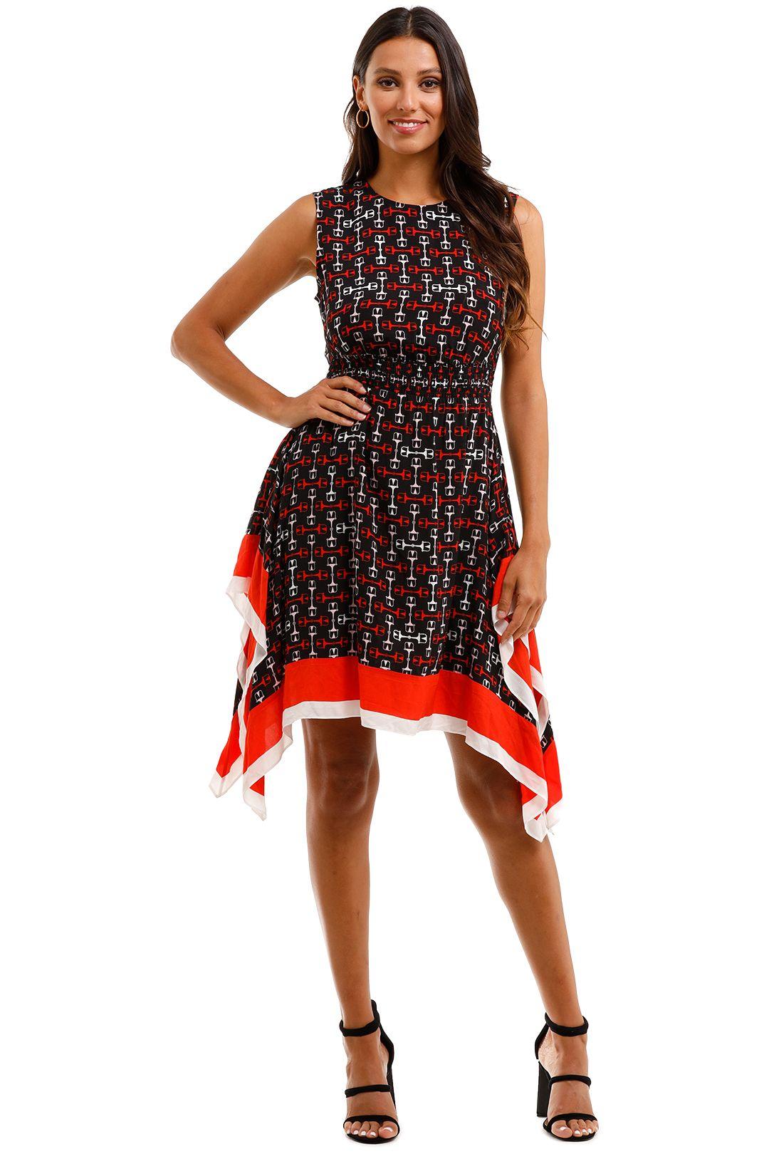 Maje Rose Shirred Printed Crepe De Chine Dress