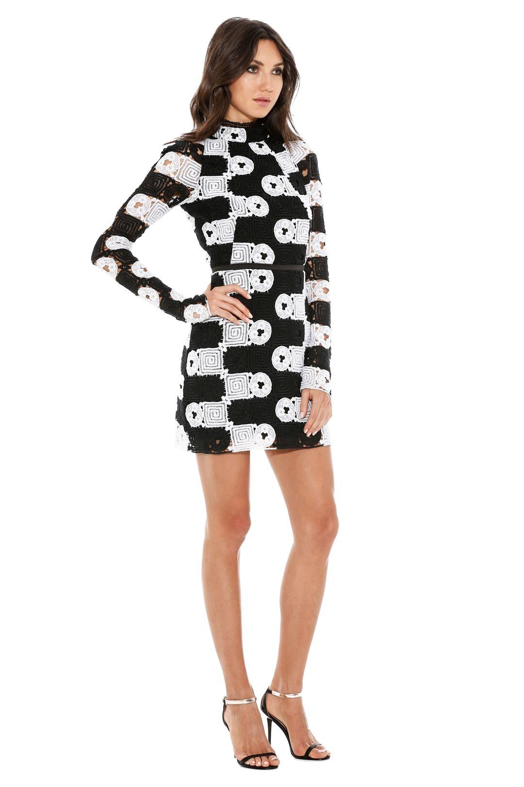 Manning Cartell - Split Personality Dress - Back White - Side