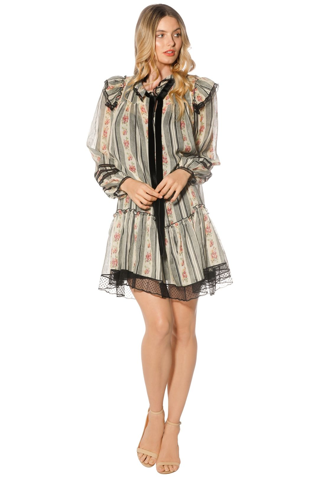 Marc Jacobs - Brocade Floral Gauze Dress - Print - Front