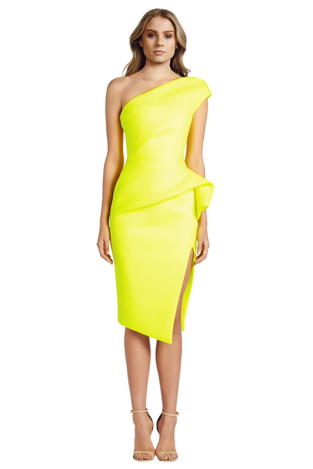 Maticevski - Division Dress - Yellow - Front