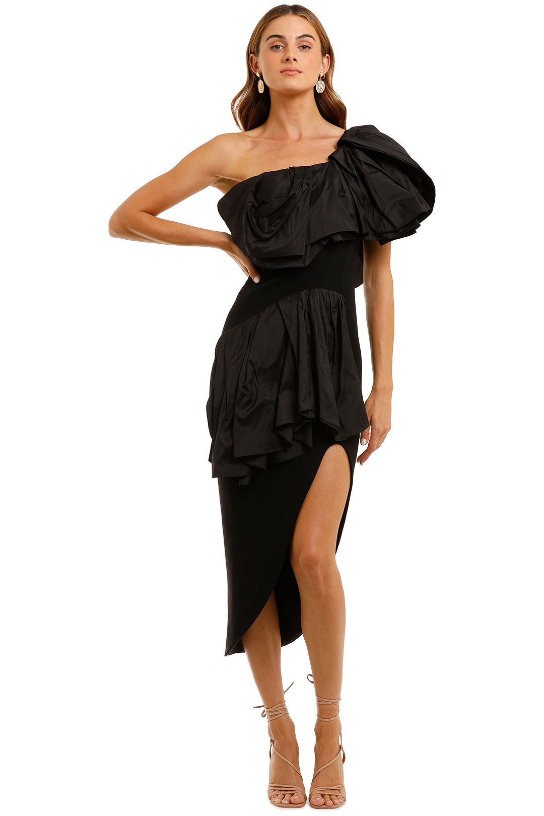 Maticevski Attentive Ruffle Dress Black