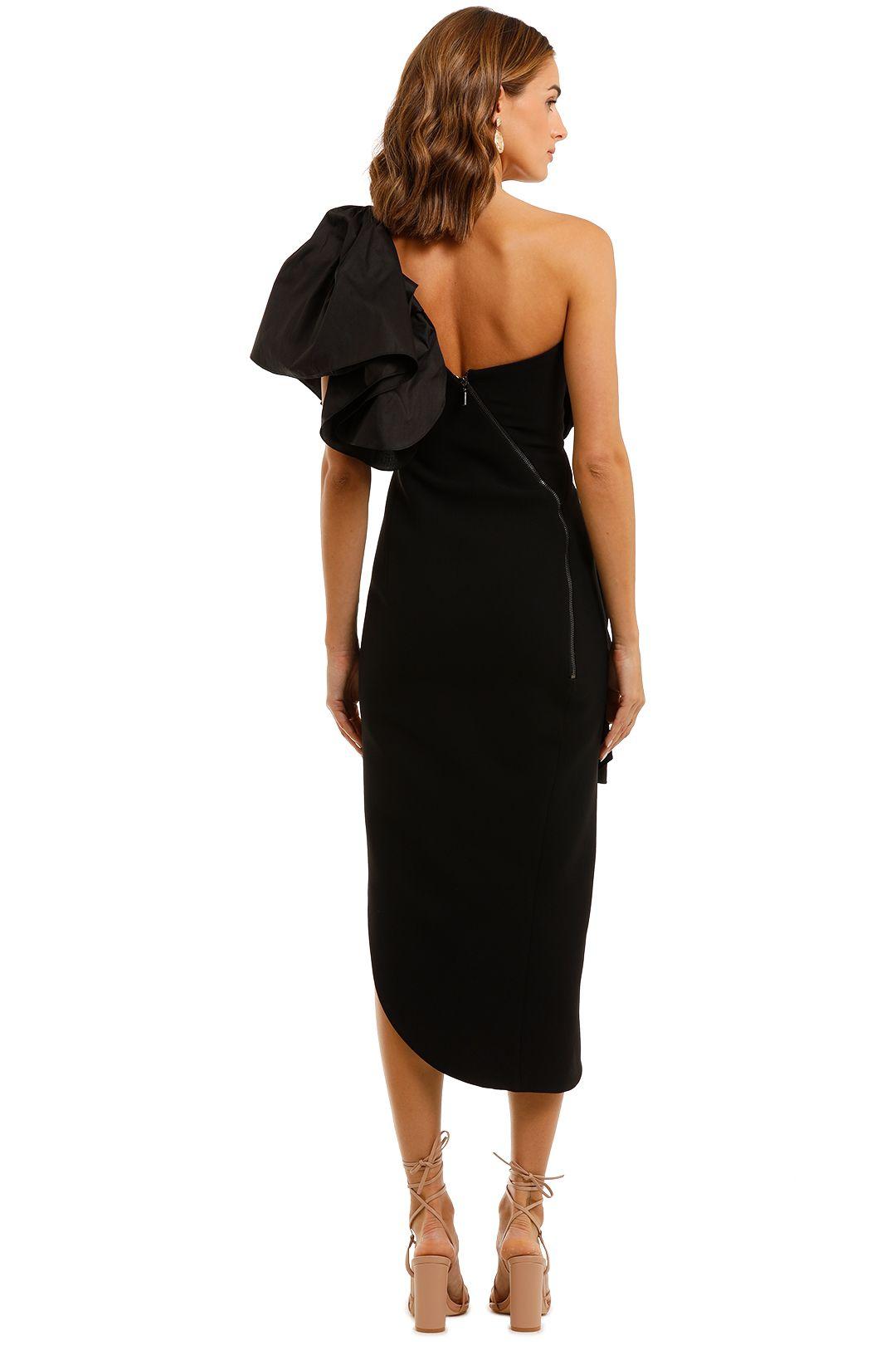 Maticevski Attentive Ruffle Dress One Shoulder