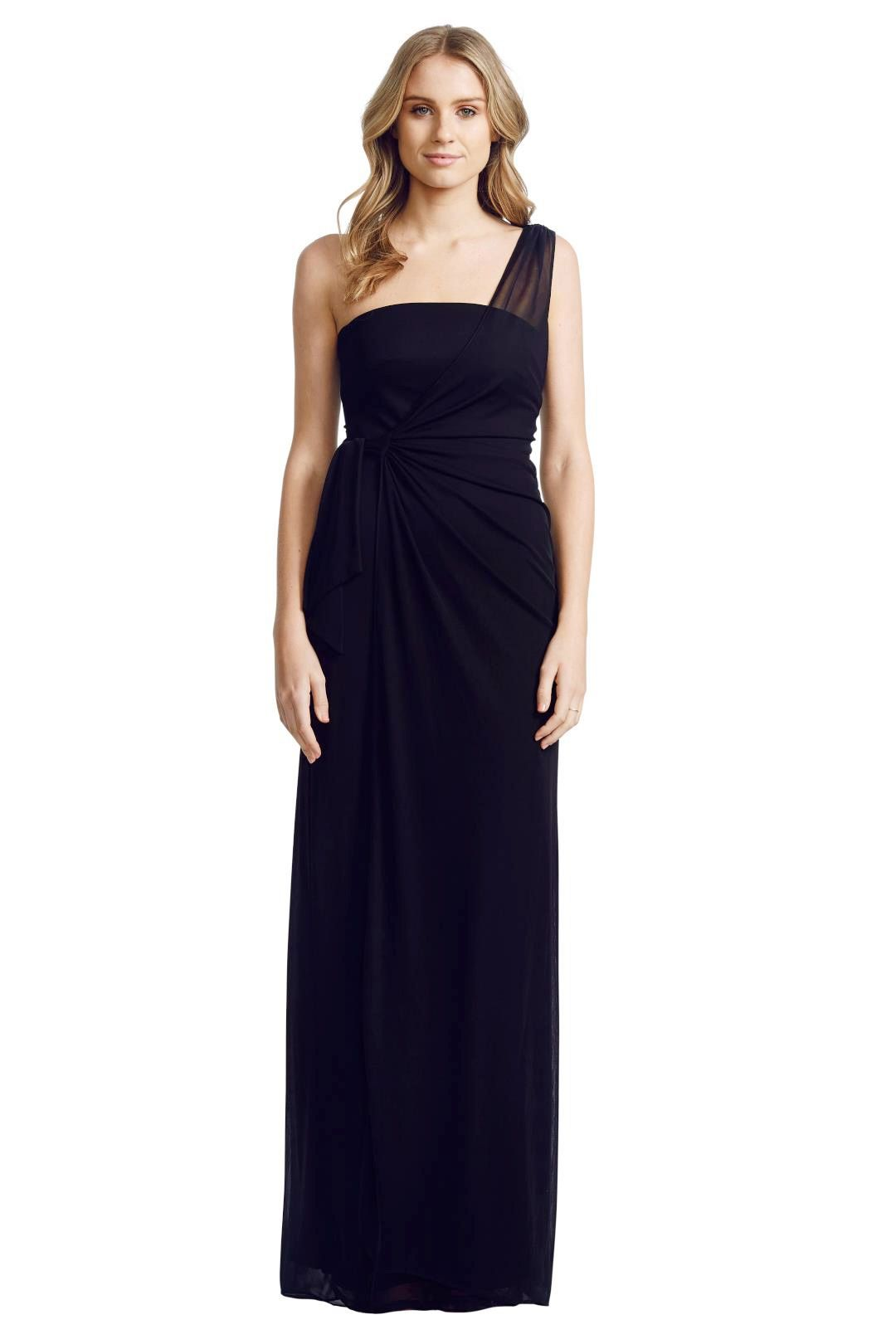 Matthew Eager - One Shoulder Gown - Black - Front