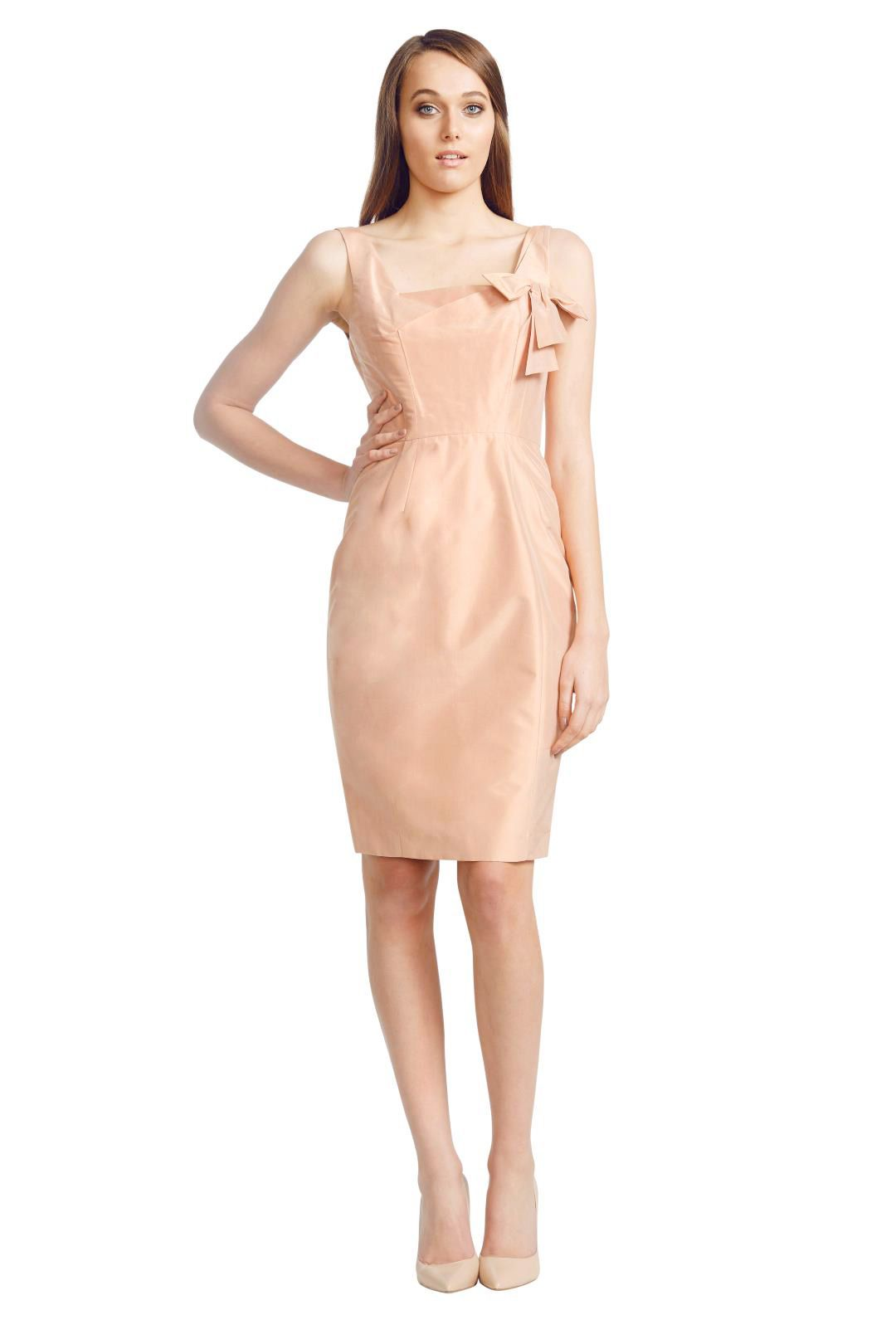 Matthew Eager - Short Silk Dress - Peach - Front