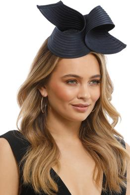 Max Alenxander - Heather Fascinator - Navy - Front