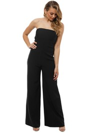 Milly - Brooke Jumpsuit - Black - Front