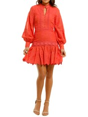Ministry-of-Style-Daphne-Mini-Dress-Coral-Front