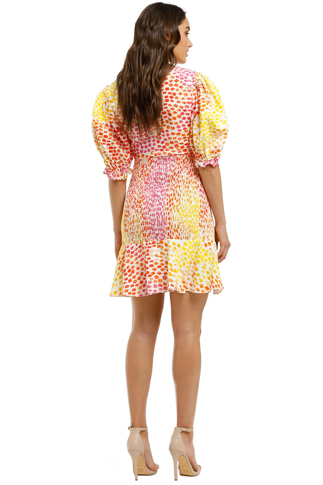 Ministry-of-Style-Gazania-Mini-Dress-Pink-Yellow-Back