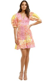 Ministry-of-Style-Gazania-Mini-Dress-Pink-Yellow-Front