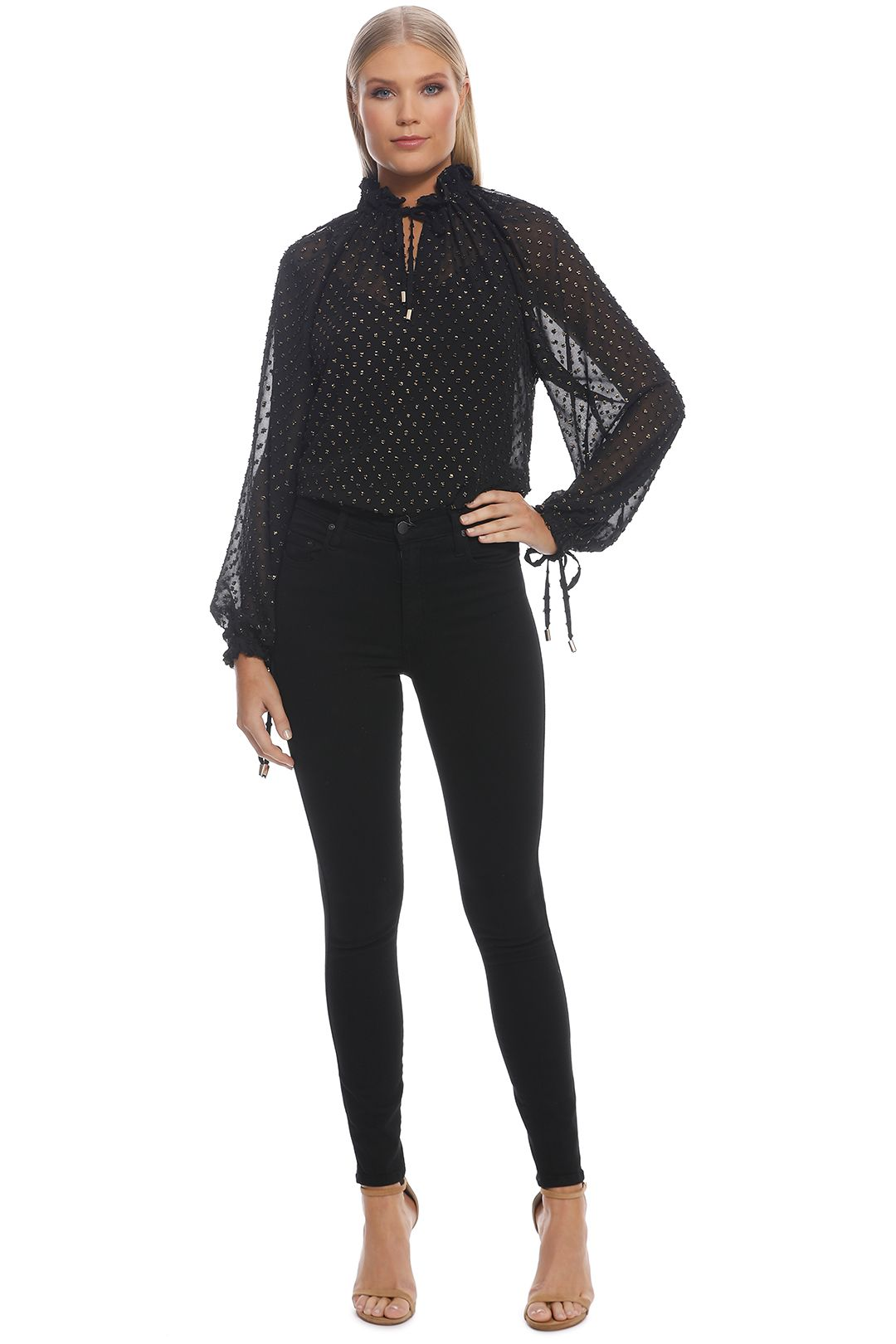 Ministry of Style - Augustine Top - Black - Front