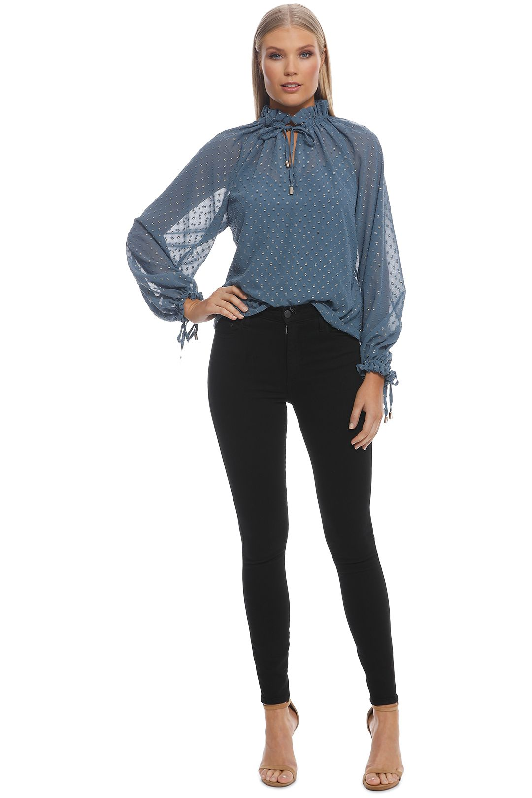 Ministry of Style - Augustine Top - Indigo - Front