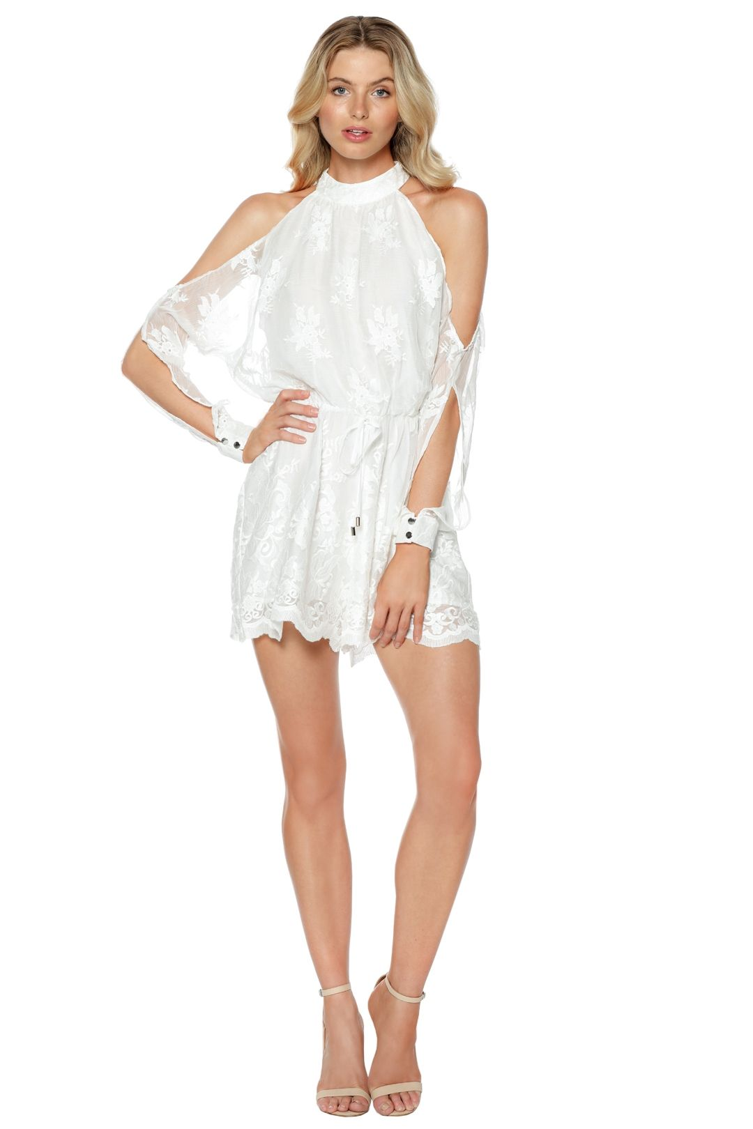 Ministry of Style - Campbell Playsuit - Ivory - Front