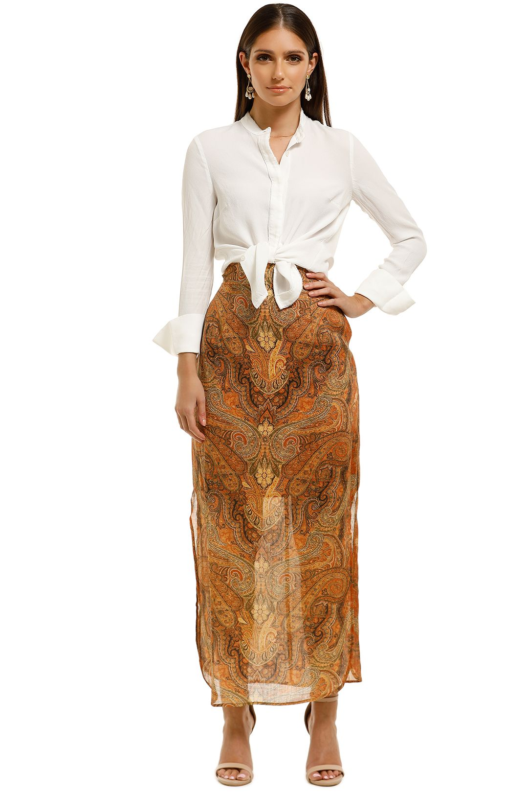 Ministry of Style - Rhapsody Skirt - Brown - Front