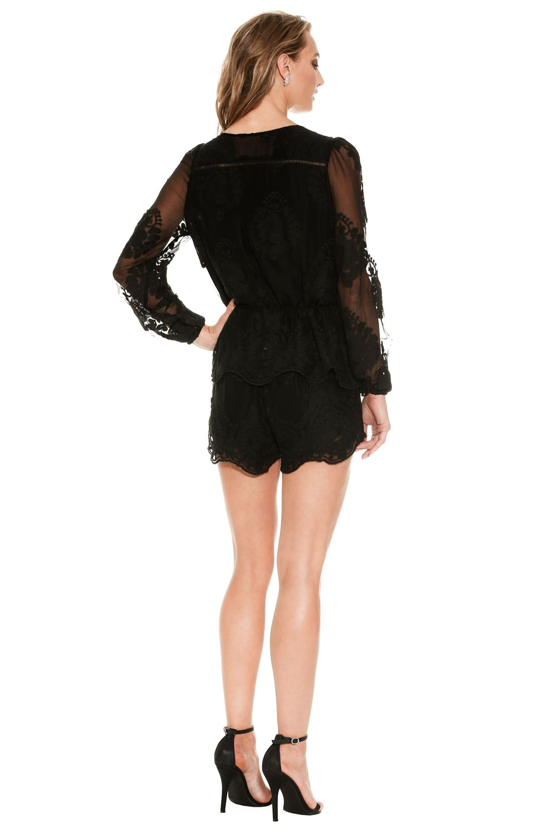 Ministry of Style - Roamer Playsuit - Black - Back