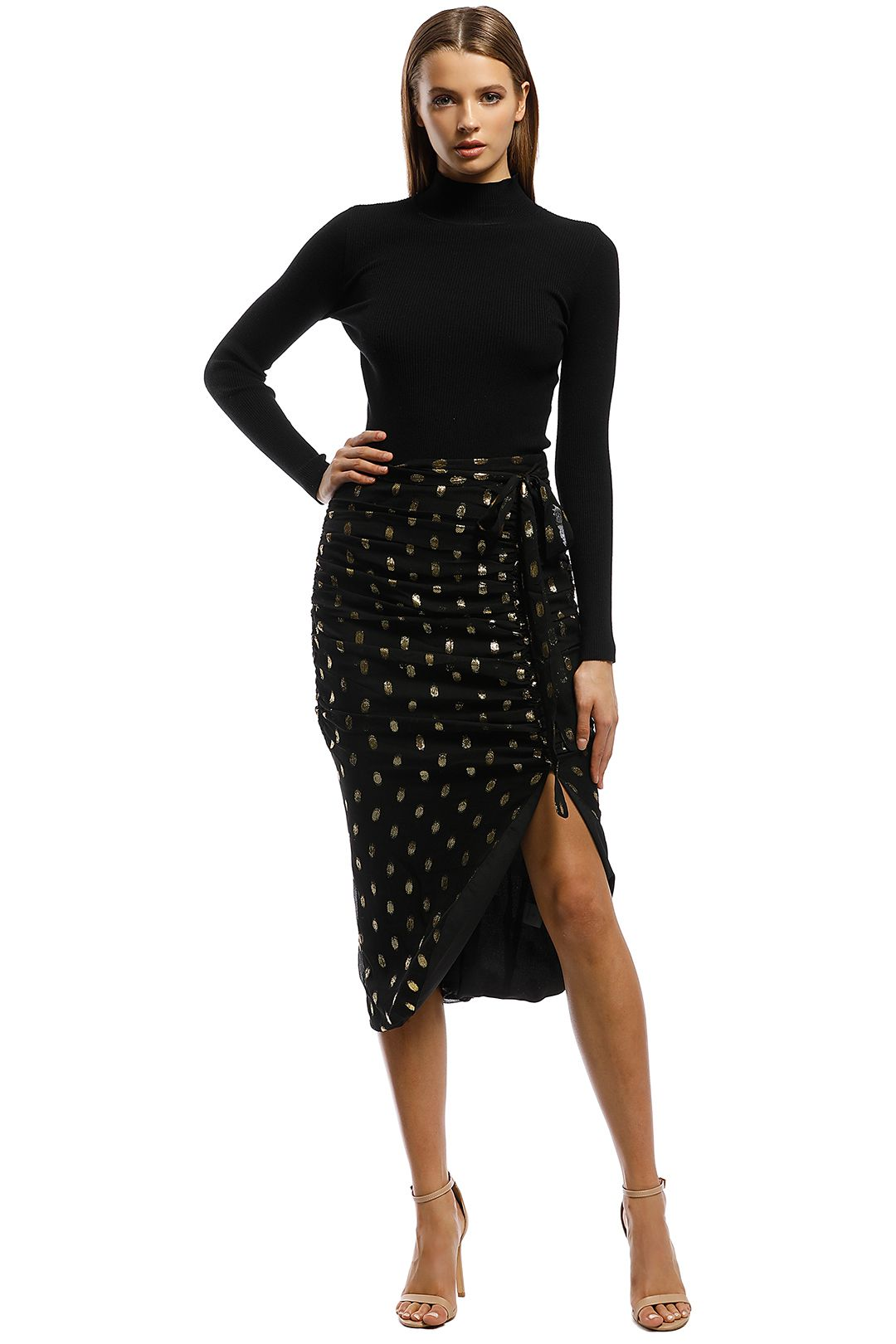 Ministry of Style - Sweet Surrender Skirt - Black Gold - Front