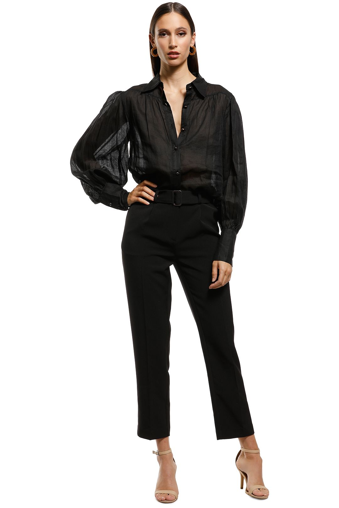 Ministry of Style - Symphony Tailored Shirt - Black - Front