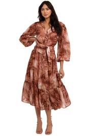 Ministry of Style Vacay Tie-Dye Midi Dress print